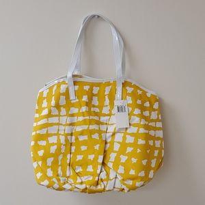 NWT Saks Fifth Avenue Yellow Bag